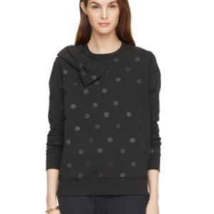Kate Spade ♠️ Black Sweater Bow and Polka Dots